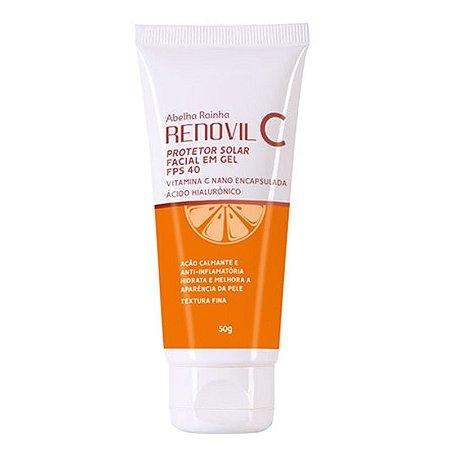 Renovil C Protetor Solar Facial em Gel FPS 40 Abelha Rainha 50g