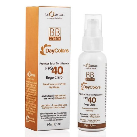 BB Cream Protetor Solar Tonalizante Bege Claro FPS 40 60g La Vertuan