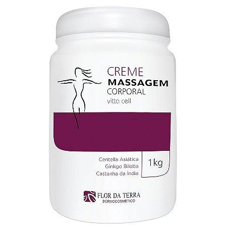 Creme De Massagem Corporal Vitta Cell 1KG Flor Da Terra