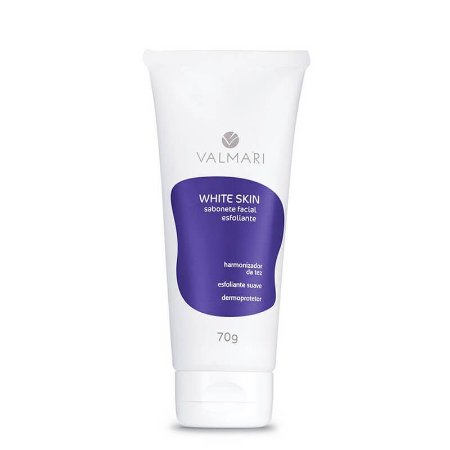 Sabonete Esfoliante Facial Clareador 70g White Skin Valmari