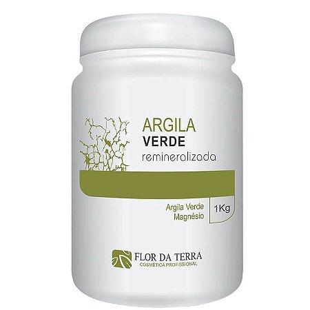 Argila Verde Remineralizada 1KG Flor Da Terra