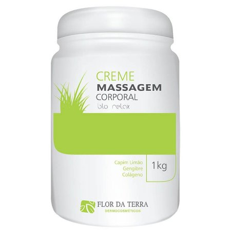 Creme De Massagem Corporal Bio Relax 1KG Flor Da Terra