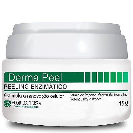 Derma Peel Peeling Enzimático Bromelina E Papaina 45g Flor Da Terra