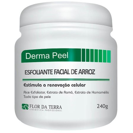 Derma Peeling Esfoliante De Arroz 240g Flor Da Terra