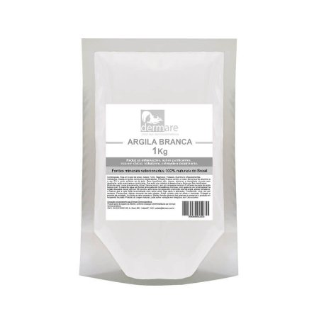 Argila Branca Dermare 1kg