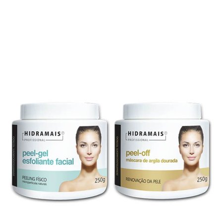 Kit Tratamento Facial Esfoliante e Peel-off Hidramais