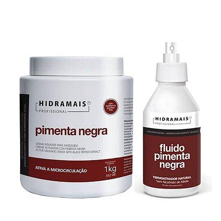 Kit Pimenta Negra Creme + Fluído Termo Ativo Hidramais