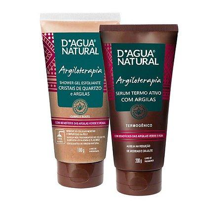 Kit Argiloterapia Shower e Serum D'agua Natural
