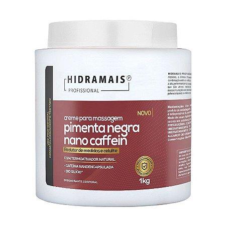 Creme Pimenta Negra Nano Caffein 1kg Hidramais