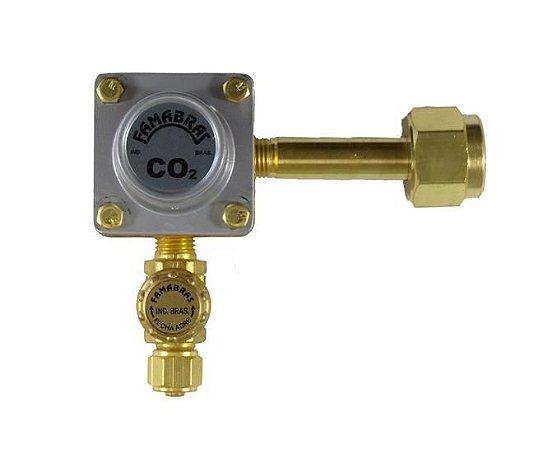 Registro CO2 1 via - Pré-calibrado (Famabras)
