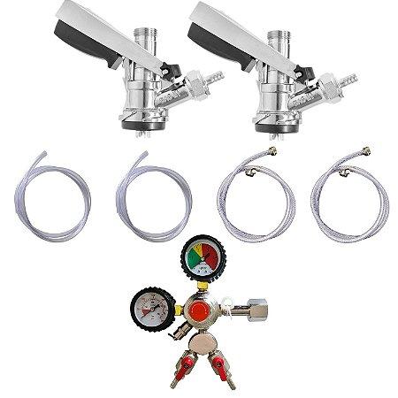Kit de Extração - 2 via com manômetro