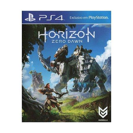 Jogo Horizon Zero Dawn - PS4 (Capa Dura) Semi Novo