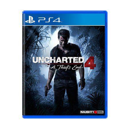 Jogo Uncharted 4 A Thief's End - PS4 (Capa Dura) Semi Novo