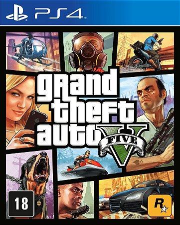 Jogo Grand Theft Auto 5 - PS4 (Capa Dura) Semi Novo