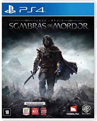 Jogo Terra Média: Sombras de Mordor + Blu-Ray do Filme Senhor dos Anéis: Retorno do Rei - PS4 (Capa Dura) Semi Novo