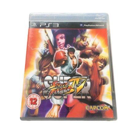Jogo Super Street Fighter IV - PS3 (Capa Dura) Semi Novo