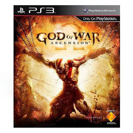 Jogo God of War: Ascenscion - PS3 (Capa Dura) Semi Novo