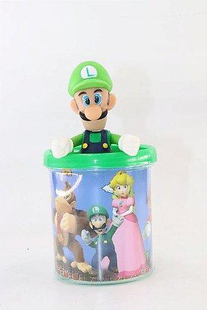 Caneca do Luigi em Acrílico + Boneco em Plástico