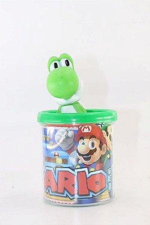 Caneca do Yoshi em Acrílico + Boneco em Plástico