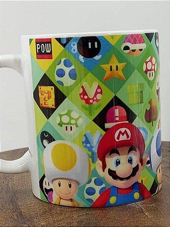 Caneca de Porcelana do Super Mario Personalizada