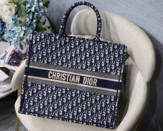 "Bolsa Dior Book Tote ""Oblique Blue"" (PRONTA ENTREGA)"