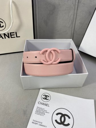 """Cinto Chanel """"Rose Pastel"""""""