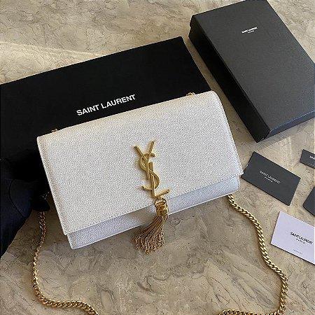 "Bolsa Saint Laurent Kate Monogram ""White"""
