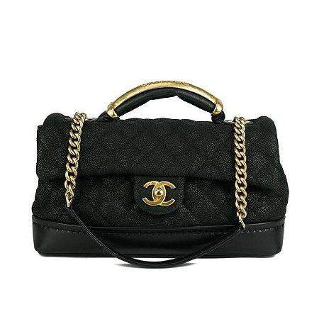 "Bolsa Chanel Classic Flap Globe ""Black"""