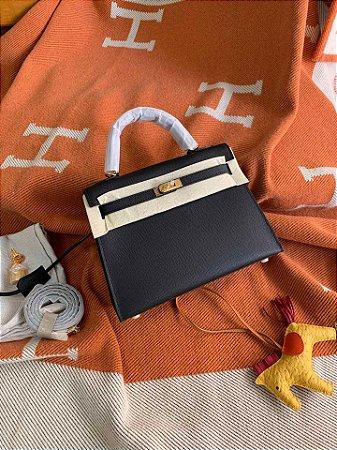 "Bolsa Hermès Kelly ""Black&Gold"""