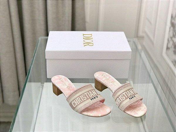 "Mule Dway Dior Plataforma ""Rose"""