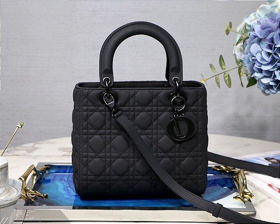 """Bolsa Dior Lady """"Preto-UltraFosco """" (PRONTA ENTREGA)"""