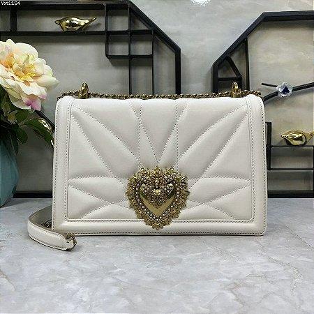 "Bolsa Dolce & Gabbana Devotion ""White/Gold"" (PRONTA ENTREGA)"