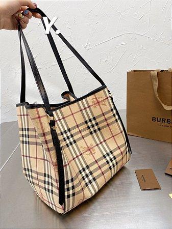 "Bolsa Burberry Haymarket ""Vintage Check/Black"" (PRONTA ENTREGA)"
