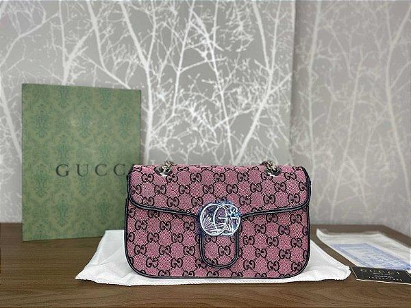 "Bolsa Gucci GG Marmont Multicolor ""Pink"" (PRONTA ENTREGA)"