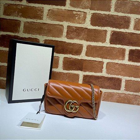 """Bolsa Gucci Marmont Mini """"Brown"""