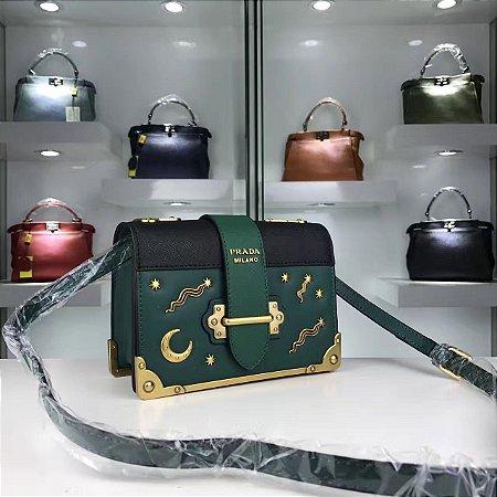 "Bolsa Prada Cahier Moon & Stars ""Green"""