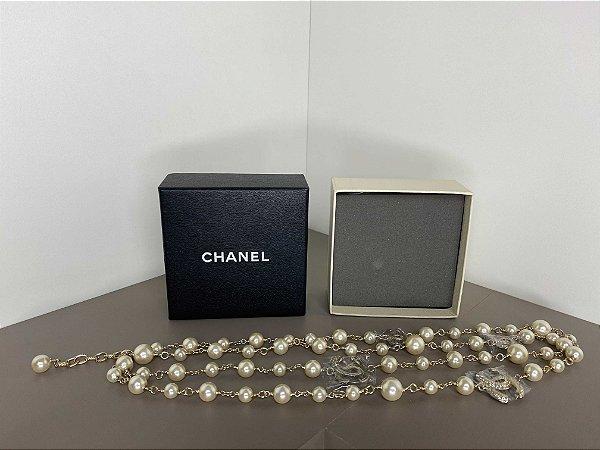 """Colar Chanel C """"Pearl"""" (PRONTA ENTREGA)"""