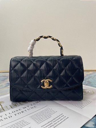 """Bolsa Chanel 19 Top Handle """"Steel Grey"""" (PRONTA ENTREGA)"""