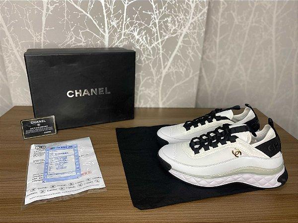 """Tênis Chanel Trainer """"White"""" (PRONTA ENTREGA)"""
