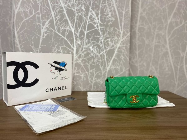 "Bolsa Chanel Single Flap ""Green"" (PRONTA ENTREGA)"