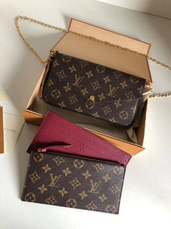 "Pochette Louis Vuitton Félicie Monogram ""Brown"""