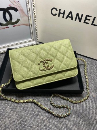 """Bolsa Chanel Quited French """"Ligtht Green"""""""