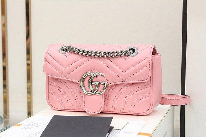 "Bolsa Gucci GG Marmont ""Pastel Pink"""