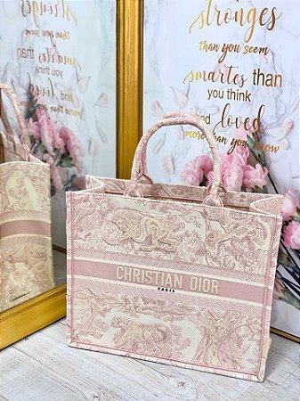 """Bolsa Tote Dior Book """"Rose"""""""
