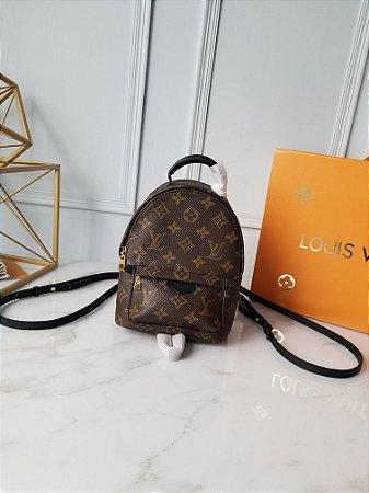"Mochila Louis Vuitton Palm Springs Monogram Mini ""Dark Brown"""