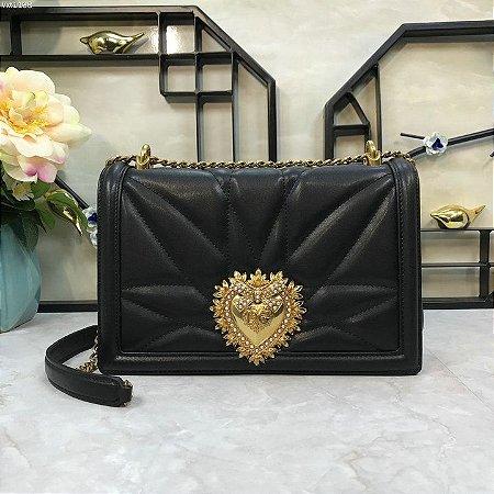 "Bolsa Dolce & Gabbana Devotion ""Black/Gold"" (PRONTA ENTREGA)"