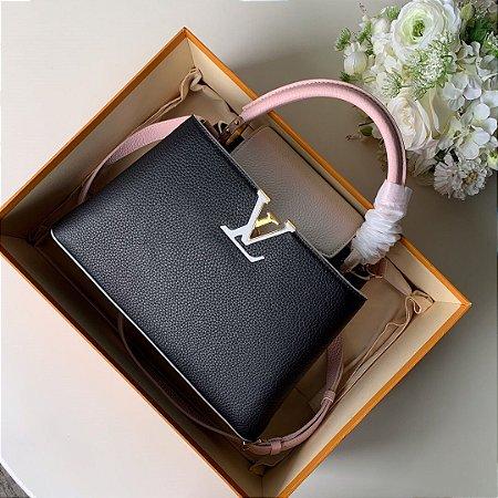 "Bolsa Louis Vuitton Capucines ""Black"""
