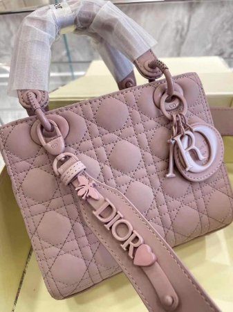 "Bolsa Lady Dior Ultrafosca ""Blush"""