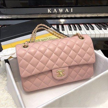 "Bolsa Chanel Double Flap ""Rosé"""