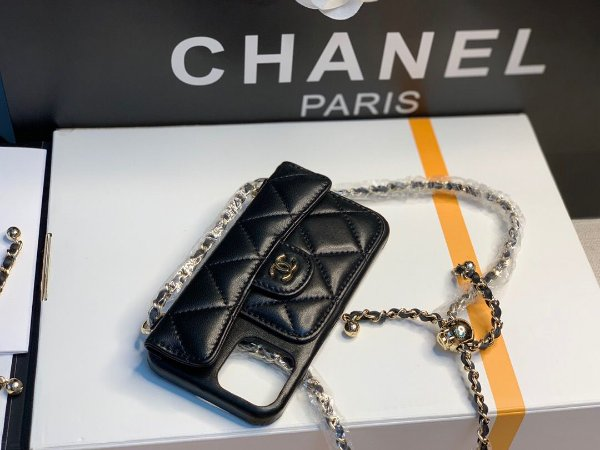 "Capa Para Celular Chanel Iphone 12 Pro Max ""Black"" (PRONTA ENTREGA)"